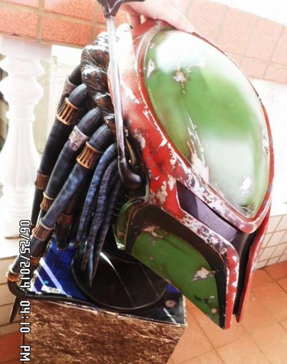 A Predator helmet, Boba Fett style!