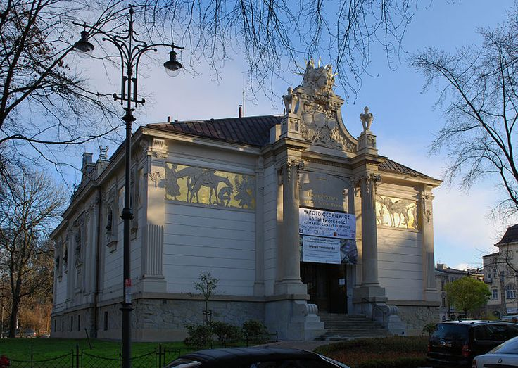 Pawilon Towarzystwa Przyjaciół Sztuk Pięknych w Krakowie na Placu Szczepańskim, 1898-1901 Franciszek Mączyński (fryz Malczewskiego)