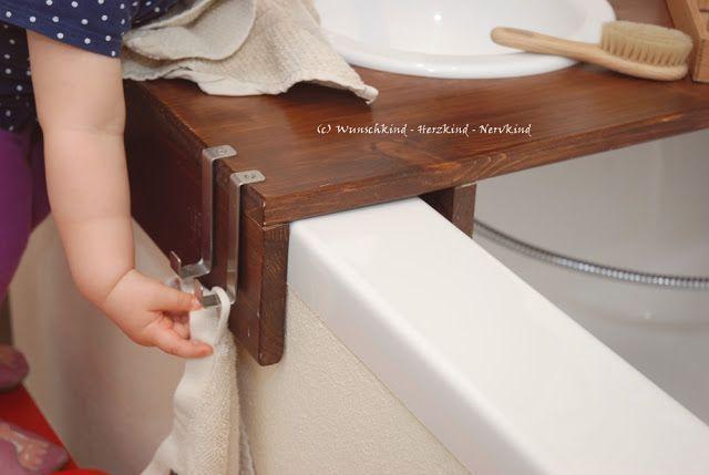 Montessori inspirierte Waschtische, Kinderwaschtisch, Waschtisch nach Montessori, Kinderwaschbecken, Pflege der eigenen Person, Kinderwaschtisch mit f…