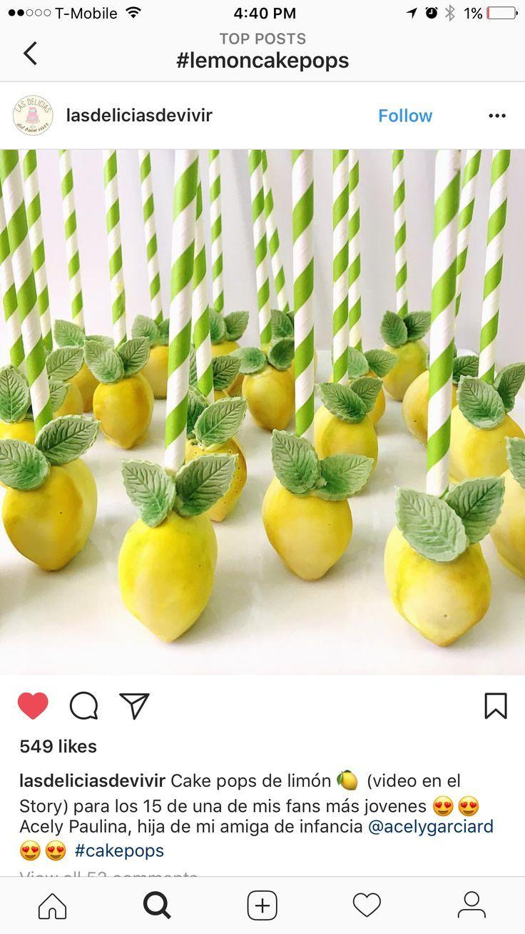 Lemon Cake Pops Cake Lemon Pops Lemon Themed Bridal Shower Lemon Themed Party Lemon Themed Wedding