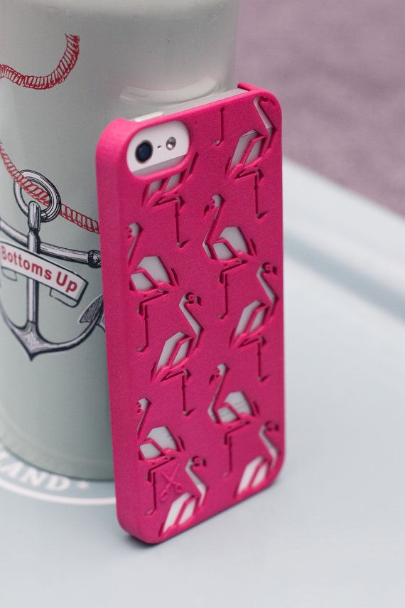 "Personalized iPhone 6, 5 or 5s case ""Flamingo"" - Give a colorful and unique style to your iPhone Pink, Grey or Black phone case - 3D printing"