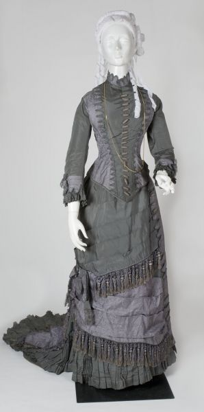 Woman's Dress, c. 1877 American Silk Purchased from Mrs. Gloria Molloy from the Florence Paull Berger Fund