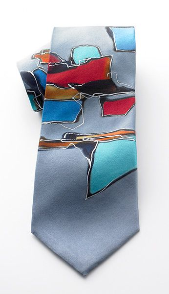 Configuration Tie - Gray, Ties, Apparel & Accessories, New Products for Spring - The Museum Shop of The Art Institute of Chicago