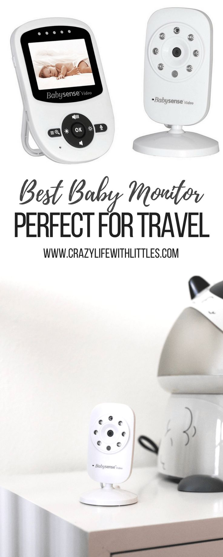 #videomonitor #babymonitor #babymusthaves The Babysense Video Monitor is the best affordable, reliable, and lightweight video monitor making it perfect for travel.