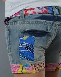 Free shipping NEW Desigual national wind Denim Patchwork Shorts Hot women's shorts womens jeans shorts-in Jeans from Apparel & Accessories on Aliexpress.com
