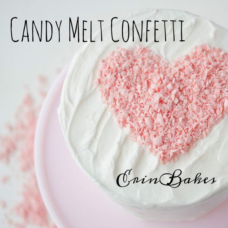 Candy Melt Shredded Confetti   Erin Bakes