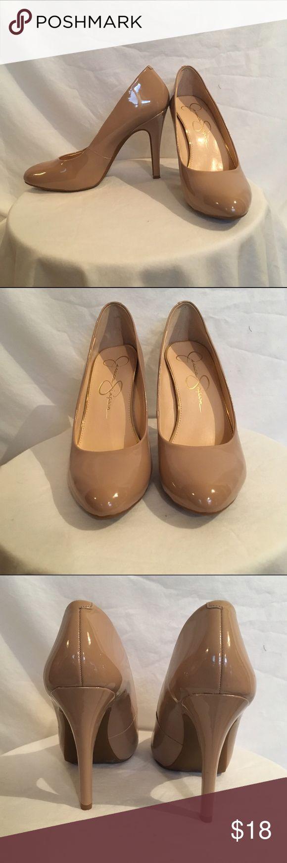 Jessica Simpson Nude Heels Like new patent Jessica Simpson heels in nude. No scuffs. Jessica Simpson Shoes Heels