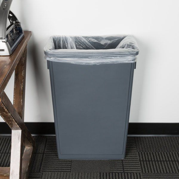 Lavex Janitorial 23 Gallon Gray Slim Trash Can In 2020 Kitchen