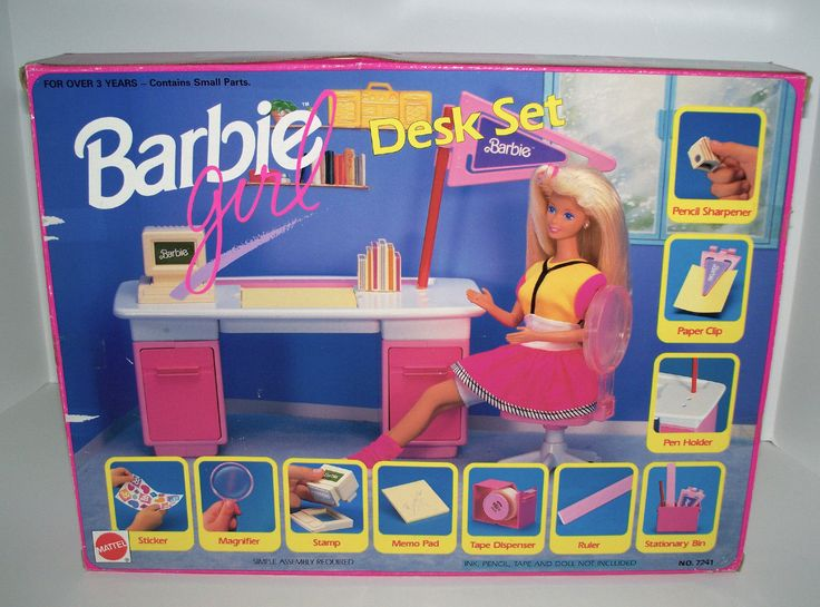 Barbie Girl Desk Set by Mattel, 1991
