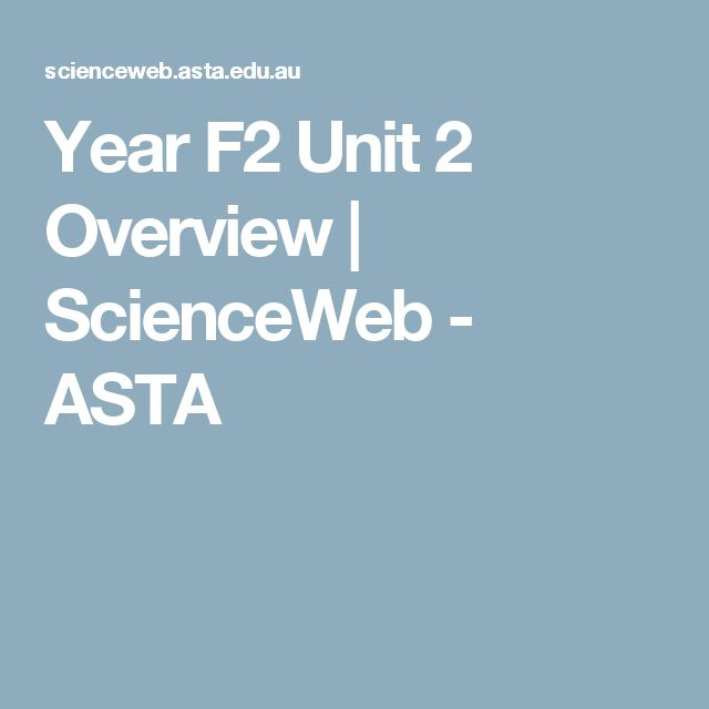Year F2 Unit 2 Overview | ScienceWeb - ASTA -Like the Australian Aboriginal peoples and Torres Strait Islander peoples, this unit of work places a strong emphasis on the observation of familiar events and changes as a way of understanding, valuing and protecting our lands and skies. Students become familiar with some of the observable features of natural, managed ...