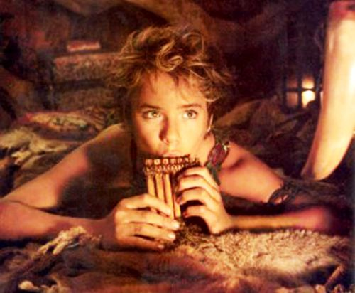Peter Pan playing the pan flute...how great is that?! Yes I've grown a bit obsessed with this movie.