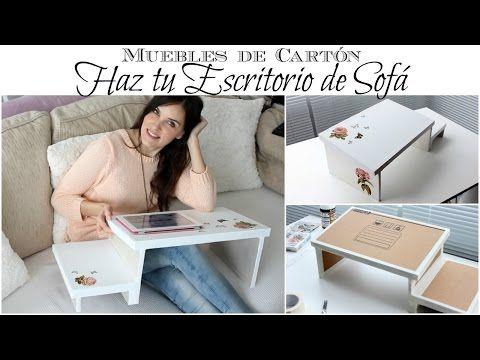 Muebles de Cartón | Como hacer un Escritorio de Sofá de Cartón :: Cardboard Furniture | How to Make a Cardboard Couch Desk [in Spanish]