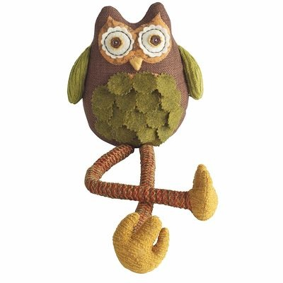 Dangle Legs Owl - Owls are hot - not just in jewelry but in decor - get in on the trend with Cookie Lee