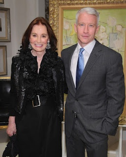 Gloria Vanderbilt and her Son Anderson Cooper. Just so you know Gloria Vanderbilt was born February 20, 1924. Anderson Cooper is a descendant of Cornelius Vanderbilt II