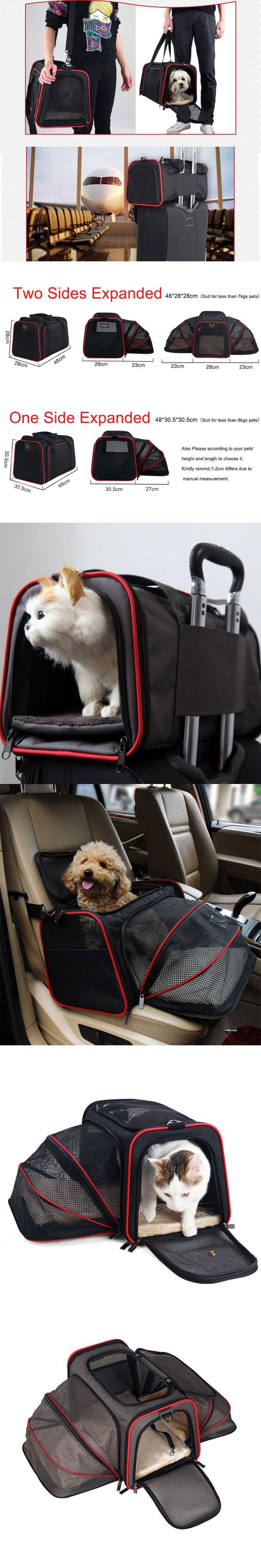 Expandable Portable Dog Travel Bag Chihuahua Dog Cat Cage Container Car Travel Accessories For Small Pets