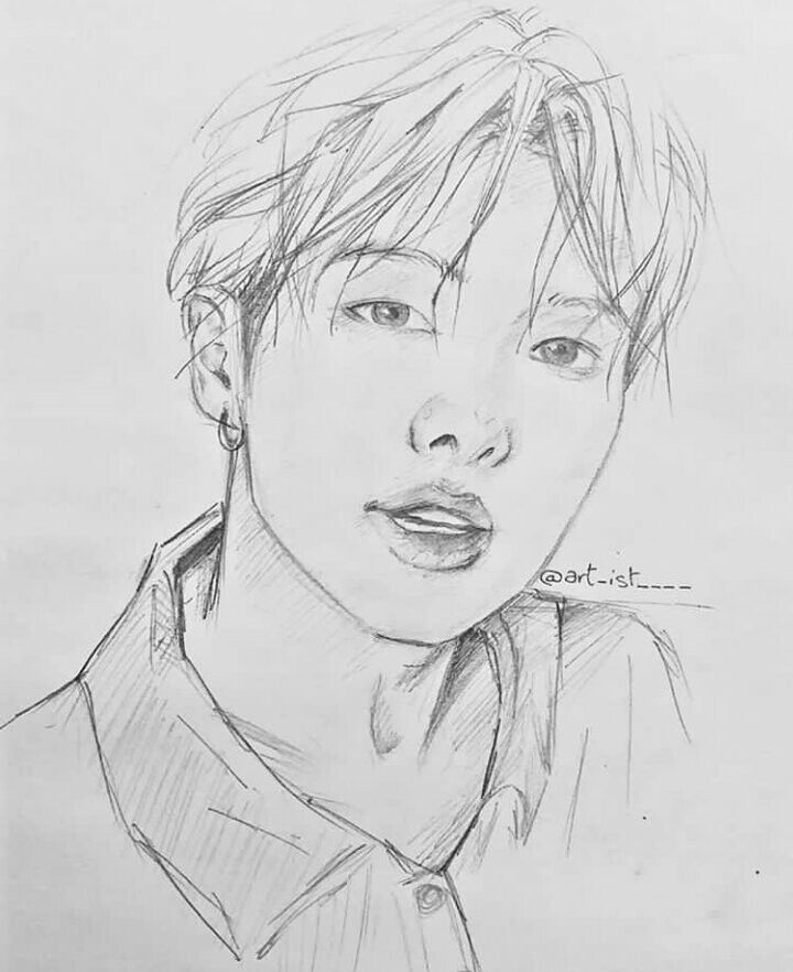 Bts Rm Drawing Fanart Namjoon Sketch