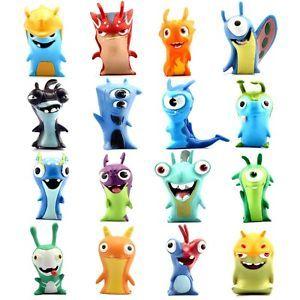 New 16 Pcs  Slugterra Action Figure Slug Blaster Burpy Plush Kids Doll Figures