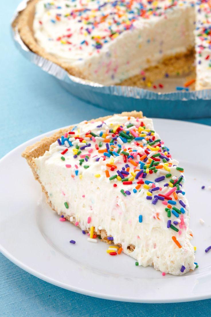 No-Bake Birthday Cake Cheesecake