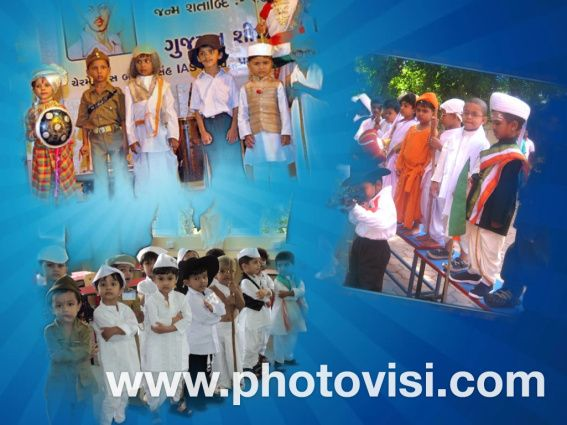 Kids dress up freedom fighter independence day