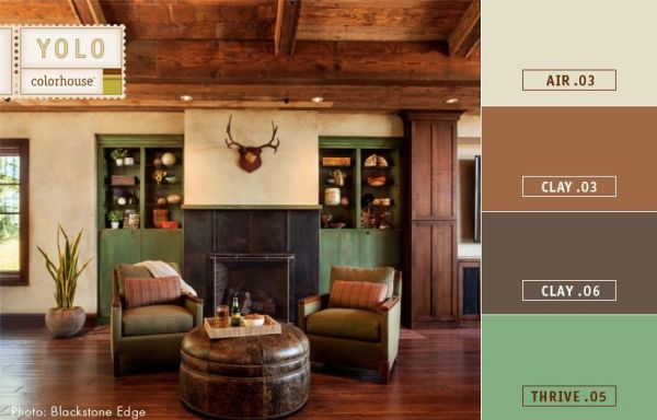 paint colors for a masculine space get the look for a bachelor pad rustic color palette. Black Bedroom Furniture Sets. Home Design Ideas