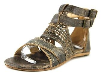 Bed Stu Capriana Women Open Toe Leather Brown Gladiator Sandal.