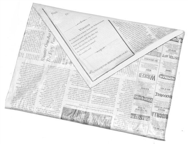 DIY Newspaper clutch