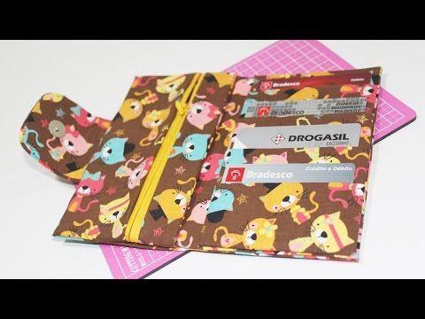 Carteira de Tecido com Caixa de Leite - Passo a Passo - YouTube