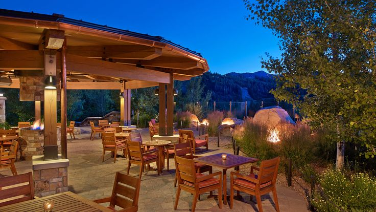 The St. Regis Deer Valley - Mountain Terrace at night