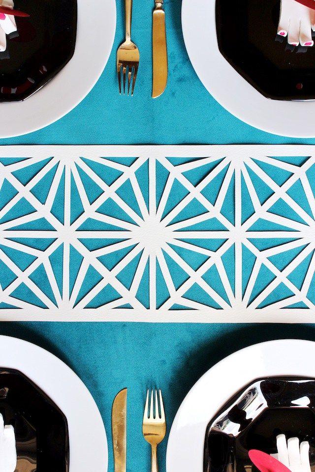DIY Midcentury Modern Table Runner