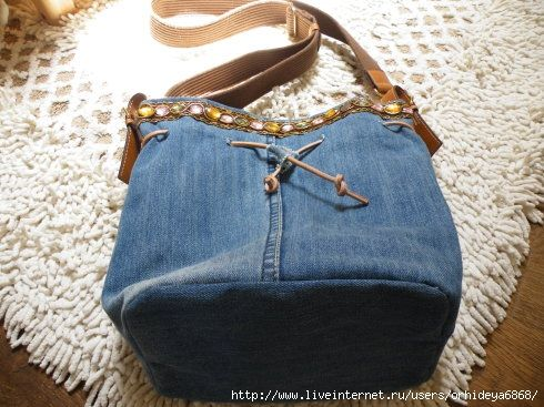 one leg jeans bag ;; KRAZY!!! I SAW A TOTALLY DIF BAG IDEA JUST 30 MINS AGO, AND THOUGHT OF THIS IDEA!!!! FREAKY :}
