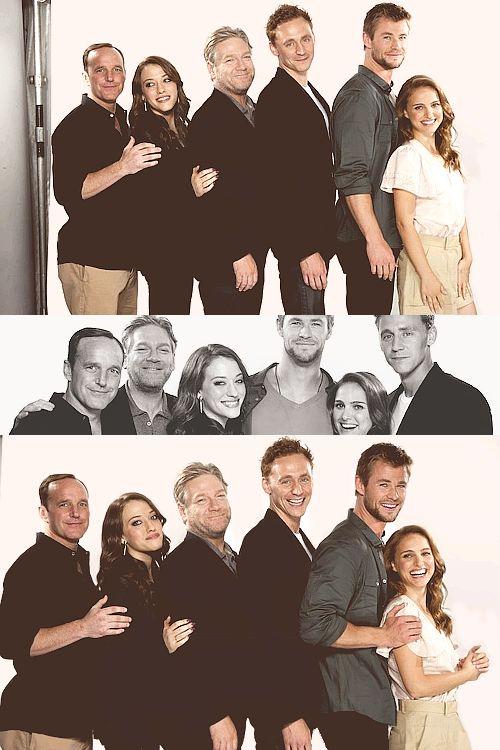 Natalie Portman x Chris Hemsworth x Tom Hiddleston x Kenneth Branagh x Kat Dennings x Clark Gregg     - Michael Muller [Comic Con Portraits]
