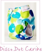 Designer Bum Nappy - Disco Dot Caribe
