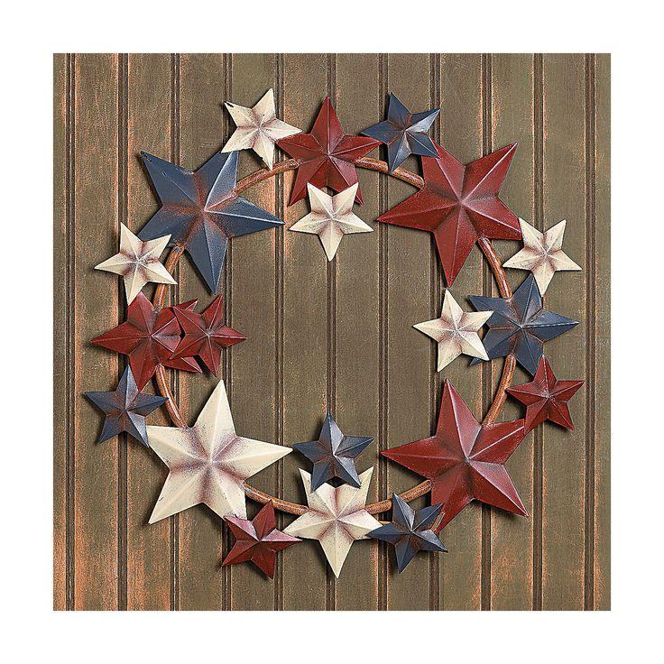 Metal+Barn+Star+Americana+Wreath+-+OrientalTrading.com