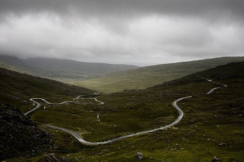 The Healy Pass, Co. Kerry = carsick
