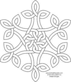Celtic Knot Snowflake