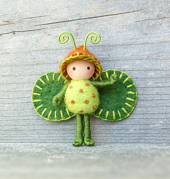 Forest  Bug bendy doll toy minature by dreamalittle7 on Etsy