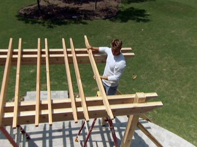 DIY Network's step by step to build a pergola   Have to do one or two for myself and cover them with wisteria and jasmine!