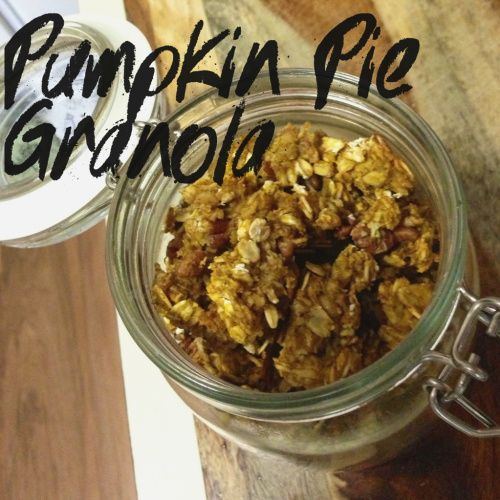 Pumpkin Pie Granola! To healthify this a bit more, I'd cut back ...