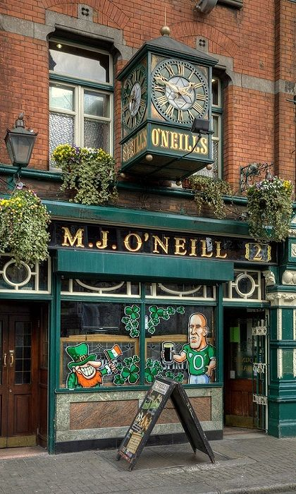 O'Neill's on Suffolk Street (just off Graftin Street). One of the best pints of Guinness in the City imho...Mulligan's on Poolbeg Street is another contender!