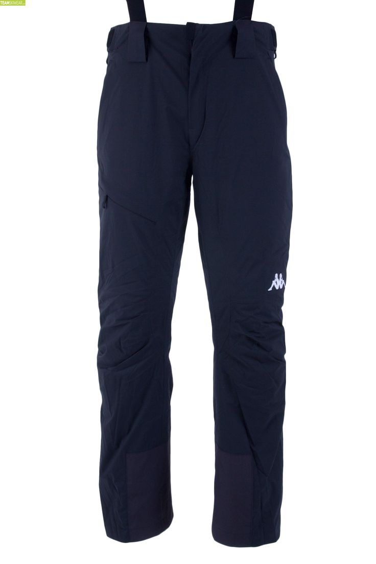 Kappa Men Italian Alpine Team Full Side Zip Pant - Black