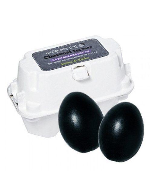 Jabón Piel Grasa y Poros CHARCOAL EGG SOAP Holika Holika  Este jabón limpiador facial con carbón vegetal, desintoxica, purifica, limpia los poros en profundidad y absorbe el exceso de grasa y las impurezas.  Puede usarse como espuma limpiadora o como mascarilla de limpieza profunda. No irrita ni reseca, lo que lo hace adecuado para pieles sensibles. Cada jabón puede durar hasta 2 meses.  2 unidades (50gr x 2)
