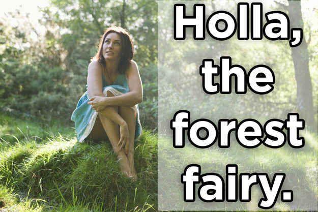 Holla, die Waldfee.