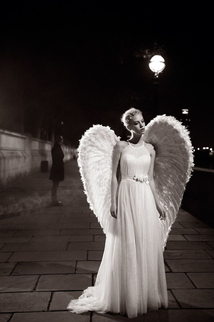 46 best angels among us images on pinterest angel wings for Angel wings wedding dress