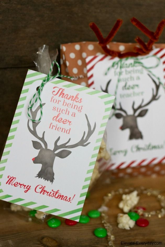 Thanks for being a deer printable - simple Christmas gift idea and cute printable too!