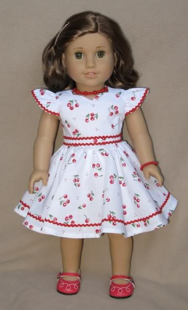 The Doll Wardrobe: Suzebella Cherries Jubilee Dress
