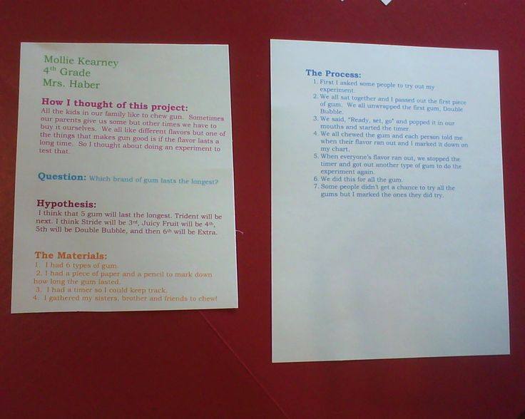 bubble gum science project The controlled variables are the flavor of gum, the same person chewing, and the same amount of gum given abstract the purpose of this experiment was to identify which brand of spearmint gum holds its flavor the longest.