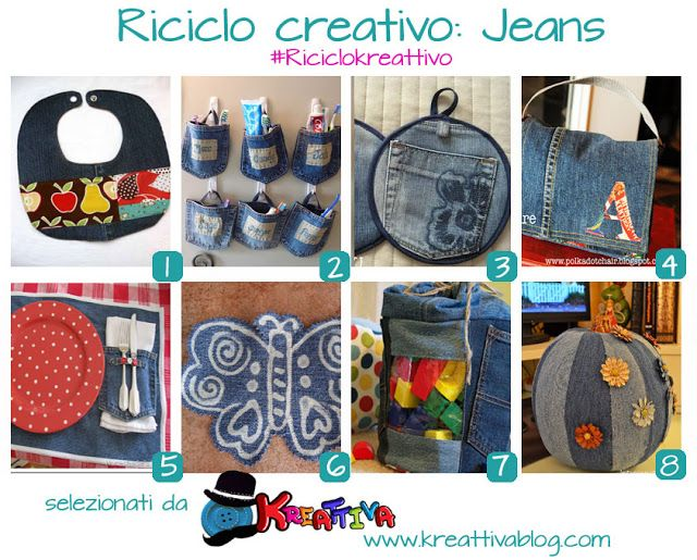 17 migliori immagini su riciclo jeans su pinterest - Idee per riciclare ...