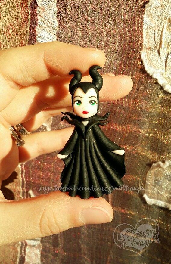 #maleficent #angelina #jolie #disney #fimo #polymer #clay #creazioni #franzin #handmade