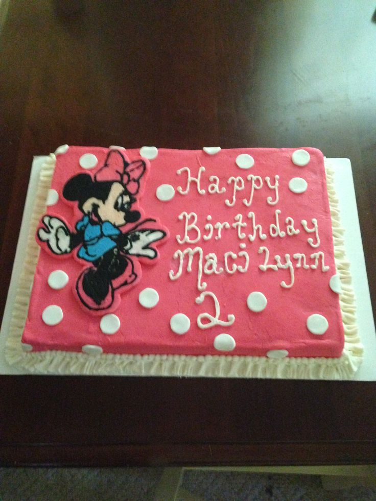 Minnie Mouse sheet cake Cakes Pinterest