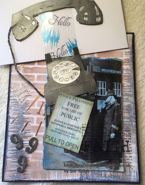 Birdcage Craft Studio Tag pulled out of the Telephone